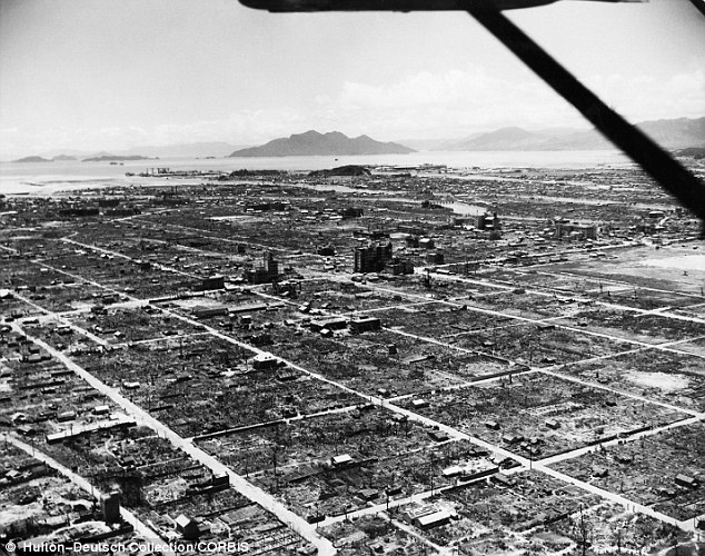 Hiroshima after the nuclear bombing of the 6th August 1945