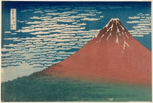 Fine Wind, Clear Morning by Hokusai - Mount Fuji was part of the iconography that was banned after the end of the war to prevent the spread of nationalistic values (Wikipedia Commons)